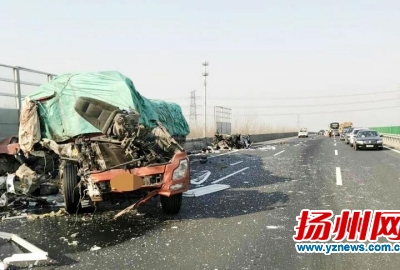 宁扬高速仪征段发生事故 两车追尾一人身亡