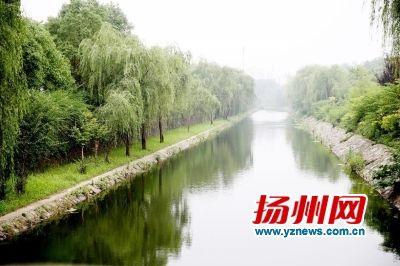 扬州沿山河全线清淤竣工开坝放水