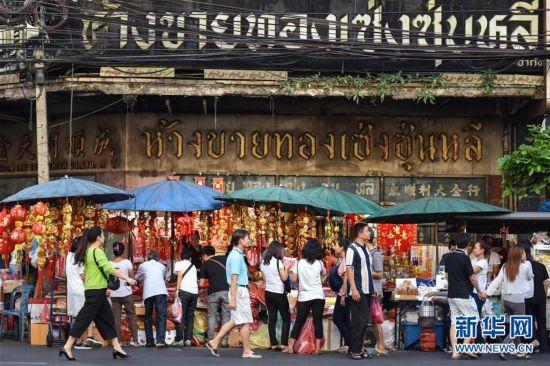 曼谷唐人街:购年货 迎春节