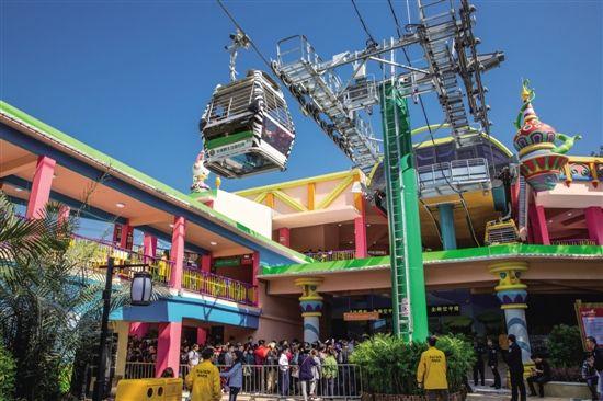 长隆野生动物世界空中缆车和熊猫乐园盛大开放