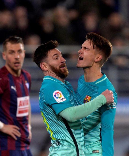 西甲:巴塞罗那胜埃瓦尔