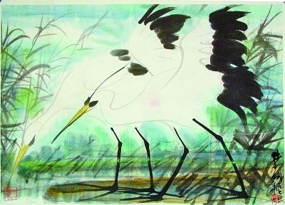 林风眠《秋鹭》,1975年,49×69.5cm,上海中国画院藏(本文配图均为资料图片)