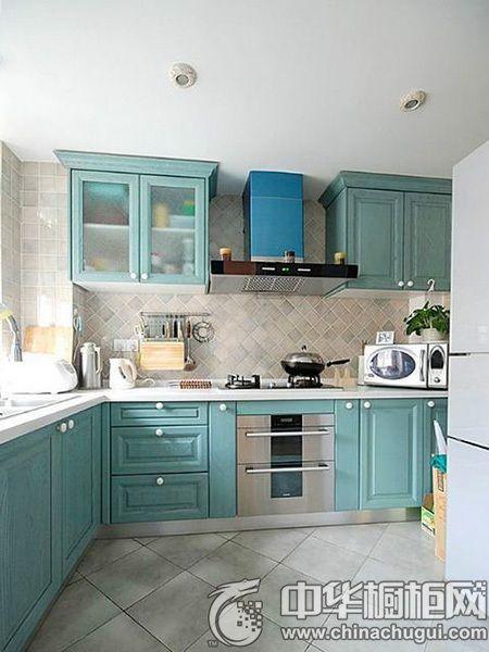 蓝色厨房装修