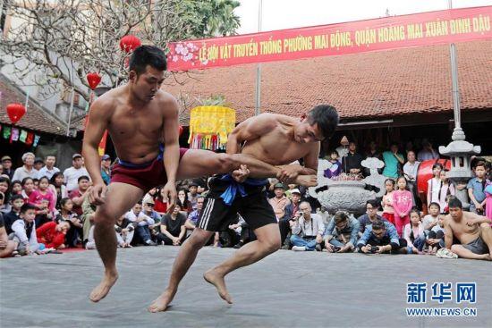 图片直击越南传统摔跤节