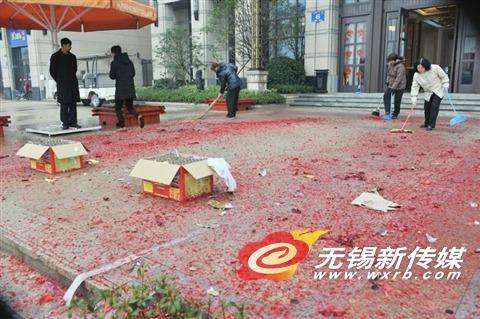 春节无锡红色垃圾少了三成 开门炮数量减少