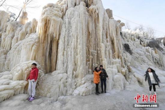 太原村民自制冰瀑布景观--旅游频道_权威全面报道旅游--人民网