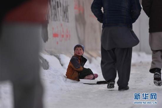阿富汗极寒天气已致至少100人死亡 儿童雪地乞讨