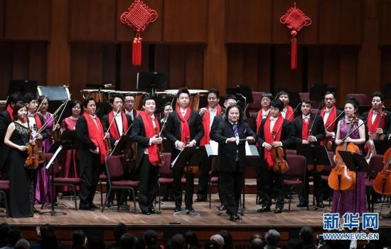 (国际)(1)中国新年音乐会在华盛顿举行