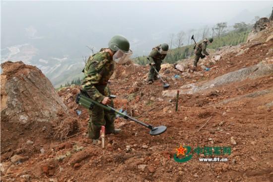 高清:直击云南边境扫雷 已清理数万枚炮弹