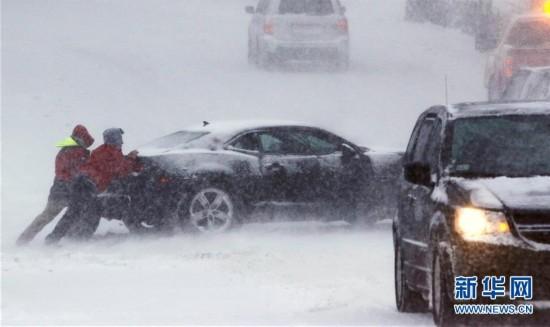 (外代一线)(1)美国东北部遭遇暴雪 5000万人生活受影响