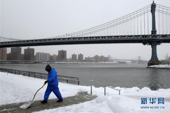(外代一线)(4)美国东北部遭遇暴雪 5000万人生活受影响