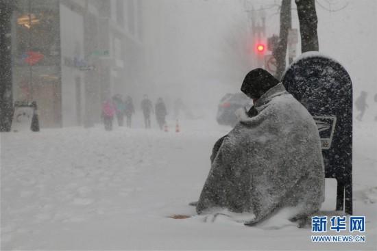 (外代一线)(7)美国东北部遭遇暴雪 5000万人生活受影响