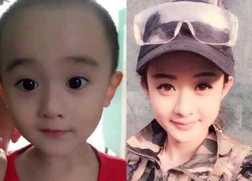 继那个长得像赵丽颖的小baby火了以后,神通广大的网友们又找到了更多明星脸的孩子