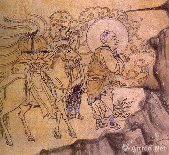 《玄奘取经图》――榆林窟第3窟(西夏) 敦煌研究院供图