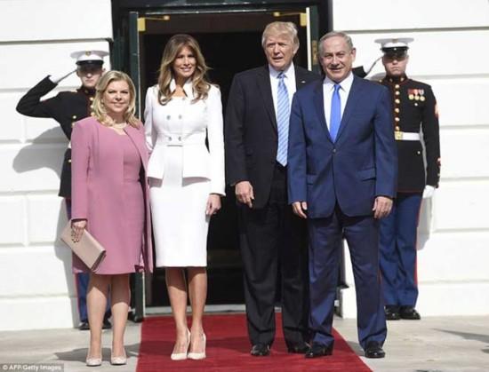 美国第一夫人梅拉尼娅首次正式在白宫出席会晤
