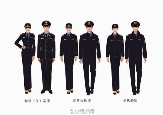 城管统一制式服装亮相 年底前全国完成换装