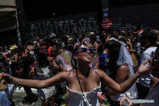 "Pre-carnival parade ""Marry Me"" held in Sao Paulo, Brazil"