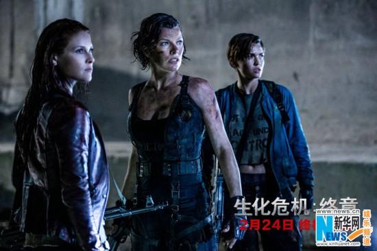 《生化危机:终章》首映 首日预售票房追平《美国队长3》