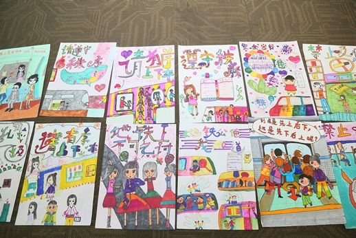 北京小学生画 地铁 绿色出行从 我 做起