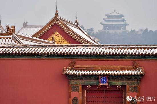 组图:雪后的北京故宫美得一塌糊涂