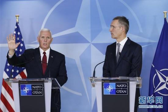 (国际)(1)美国副总统敦促北约成员国增加军费