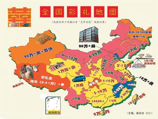 最新中国彩礼地图出炉 贫困山区高于城郊农村