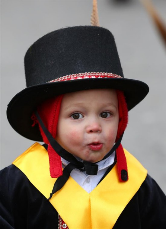 559th Malmedy Carnival held in Malmedy, Belgium