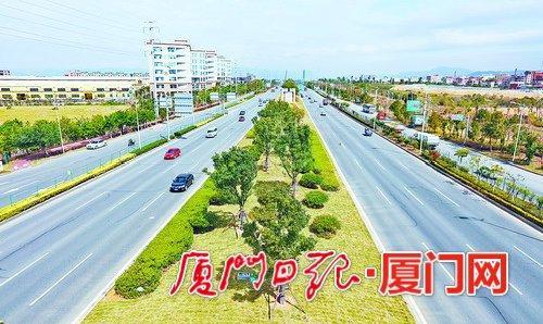 翔安大道景观修复工程完工 绿化总面积3万平方米