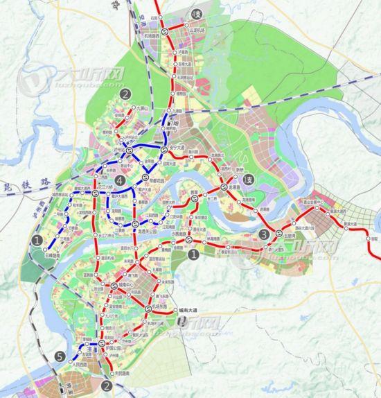 泸州轨道交通4号线年内开建 构建大都市圈 - 轨道交通、地铁、高铁 - 轨道交通、地铁(轻轨)、有轨电车、高铁