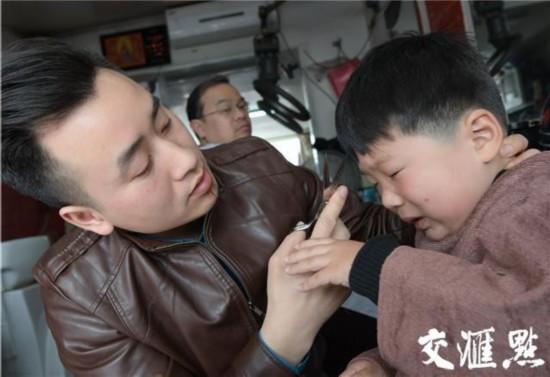 二月二南京萌娃扎堆1剃龙头秒变动态--江苏gif搞笑图图片动表情图片