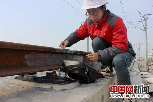 中鐵十七局集團有限公司鋪架分公司唐曹項目探傷工關改玉。