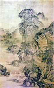 刘海粟收藏的关仝 《溪山幽居图》