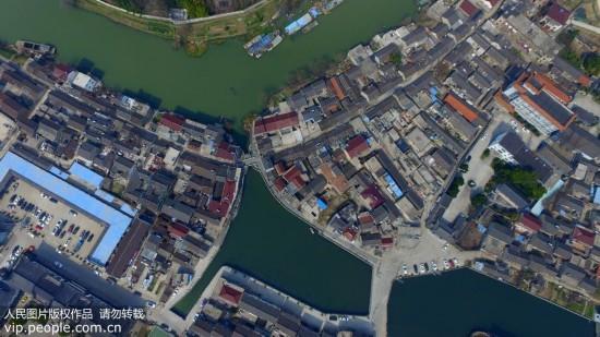 航拍京杭大运河畔千年古镇 壮观美景堪比威尼斯水城