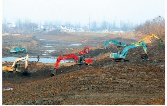 盐城盐都区推进蟒蛇河整治工程建设进度