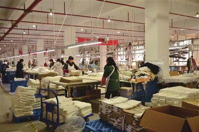 南通海门工业园区家纺企业接单生产降风险