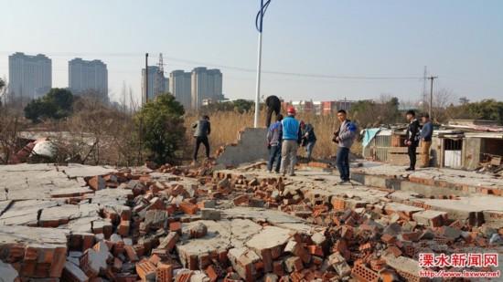 南京溧水新建巷违建集中拆除 规范城乡建设