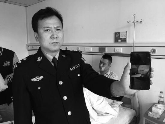 """80后新警制服""""情绪男""""血染警服 妻子发微信赞老公"""
