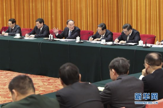 (两会)王岐山参加湖南代表团审议