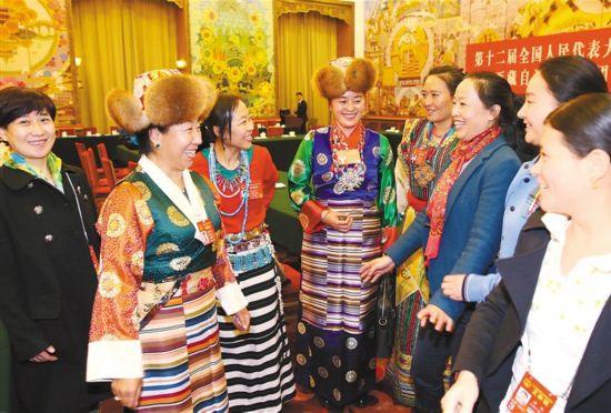 全国两会上的西藏妇女代表风采