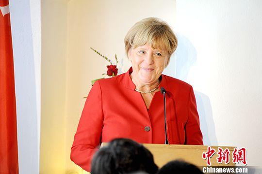 资料图:德国总理默克尔。<a target='_blank'  data-cke-saved-href='http://www.chinanews.com/' href='http://www.chinanews.com/'><p  align=