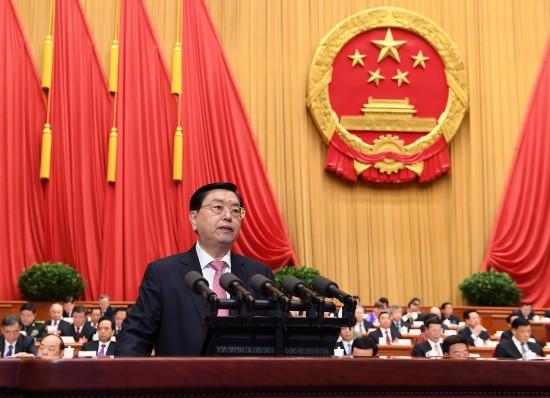 张德江作全国人民代表大会常务委员会工作报告