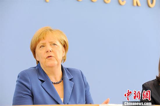 资料图:德国总理默克尔。 <a target='_blank'  data-cke-saved-href='http://www.chinanews.com/' href='http://www.chinanews.com/'><p  align=