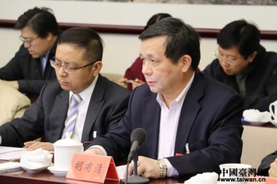台籍委员胡有清:加强法治建设有助于两岸社会融合