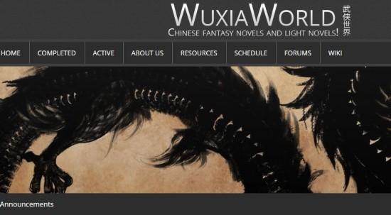 A screenshot of Wuxiaworld.com, an English website that provides Chinese fantasy and light novels. [Screenshot: China Plus]