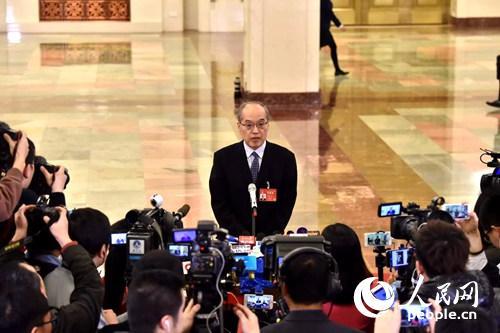 司法部部长张军。人民网记者翁奇羽 摄