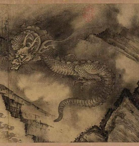 陈容《六龙图》手卷(局部)