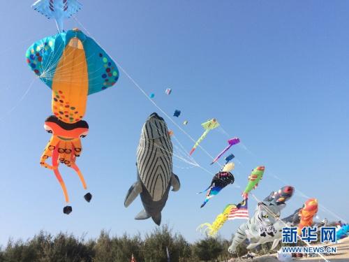 """3月10日,泰国国际风筝节中,被搬上蓝天的""""深海世界""""。"""
