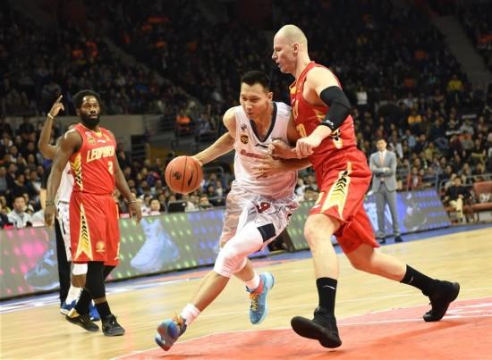 (体育)(14)篮球――CBA半决赛第二场:广东东莞银行胜深圳马可波罗