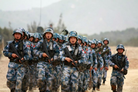 The Marine Corps of China's People's Liberation Army Navy. [File photo: news.qq.com]