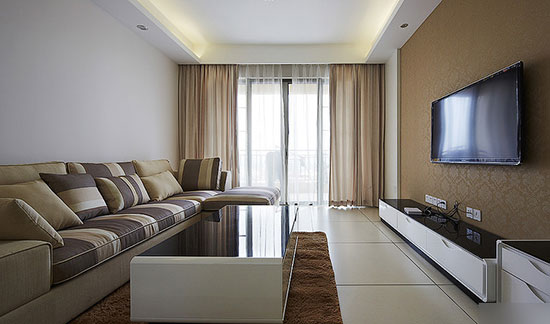 简而时尚生活格调 现代简约客厅